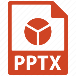 document, extension, file, format, pptx icon