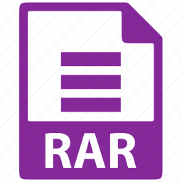 document, extension, file, format, rar icon