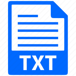 document, extension, file, format, txt icon