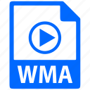 document, extension, file, format, wma icon