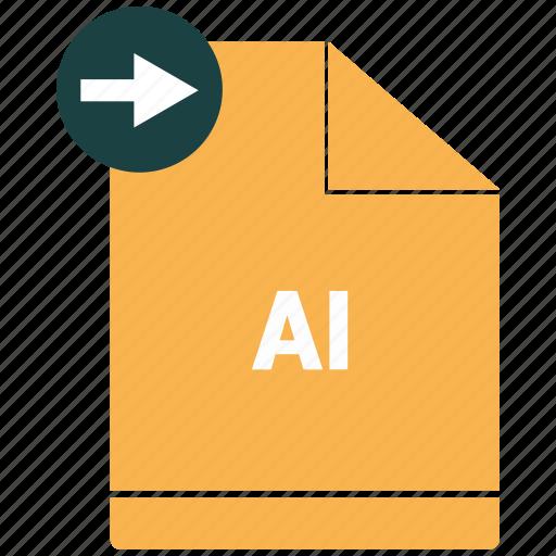 ai, document, file, format icon