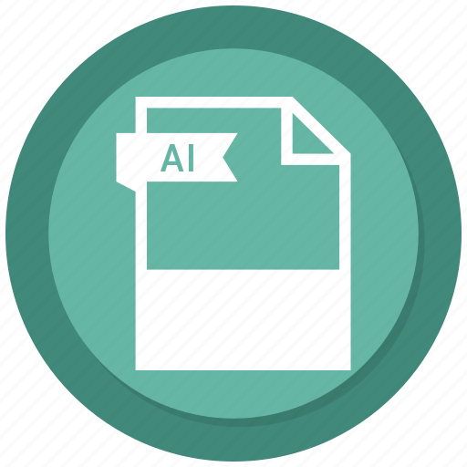 ai file, document, extension, file, format icon