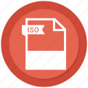 document, extension, file, format, iso, paper icon