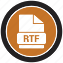 file format, rtf, extension, file