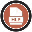 extension, file, file format, hlp icon
