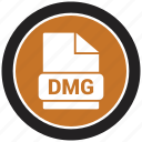 dmg, extension, file, file format icon