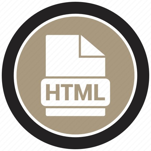 File format, html, extension, file icon