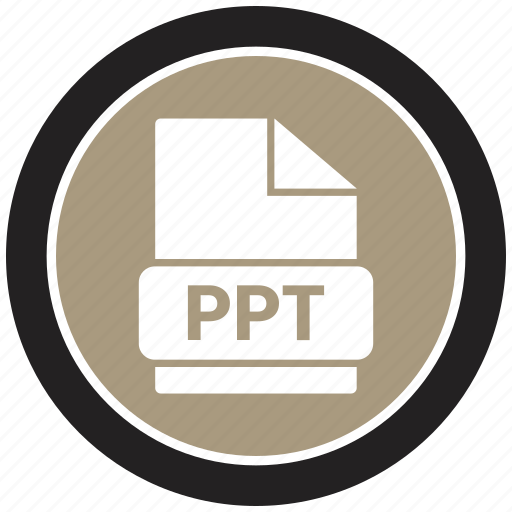 extension, file, file format, ppt icon