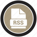 file format, extension, file, rss