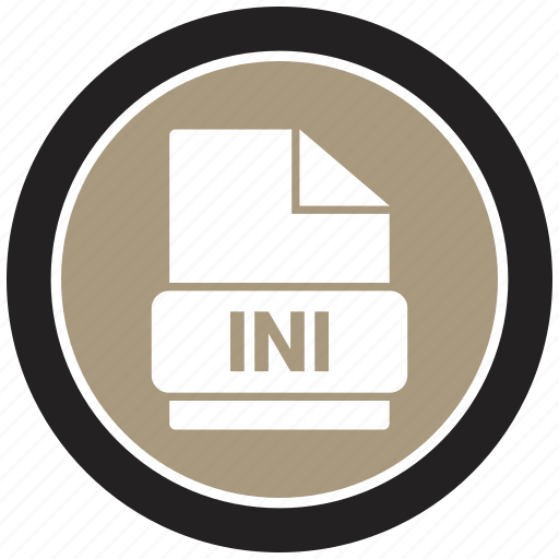 extension, file, file format, ini icon
