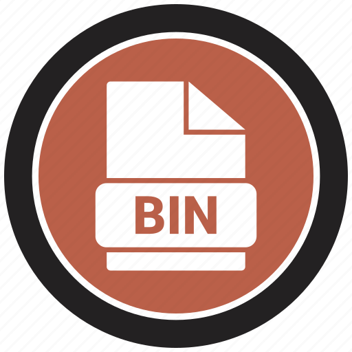 bin, extension, file, file format icon