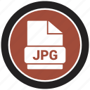 extension, file, file format, jpg icon