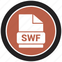 extension, file, file format, swf icon