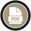 extension, file, file format, pdf icon