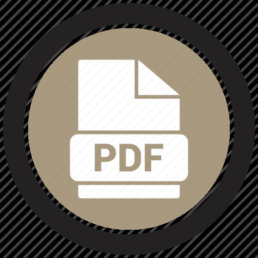 extension, file, file format, pdf icon