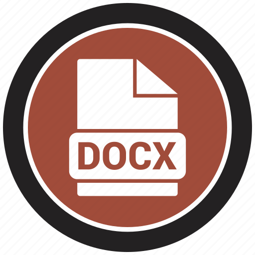 docx, extension, file, file format icon