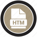 extension, file, file format, htm icon