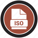 extension, file, file format, iso icon