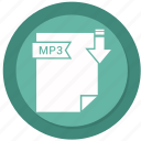 archive, compressed, file, format, mp3 icon