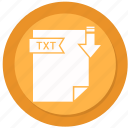 archive, compressed, file, format, txt icon