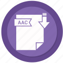 aac, archive, compressed, file, format icon