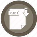 archive, cad, compressed, file, format icon
