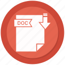 archive, compressed, doc, file, format icon