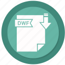 archive, compressed, dwf, file, format icon
