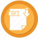 archive, compressed, file, format, gif icon