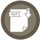 archive, aut, compressed, file, format icon