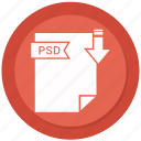 archive, compressed, file, format, psd icon