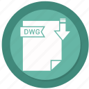 archive, compressed, dwg, file, format icon