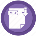 archive, compressed, file, format, mp4 icon