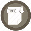 archive, compressed, file, format, pdf icon