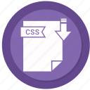 css, document, extension, folder, paper icon