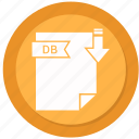 db, document, extension, folder, paper icon