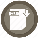 archive, compressed, file, format, xls icon