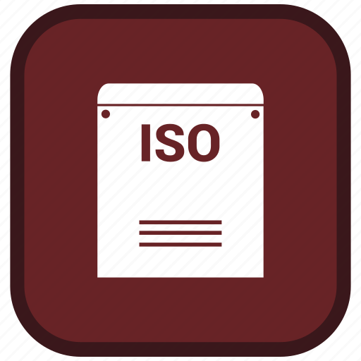 Iso, extension, file, format icon