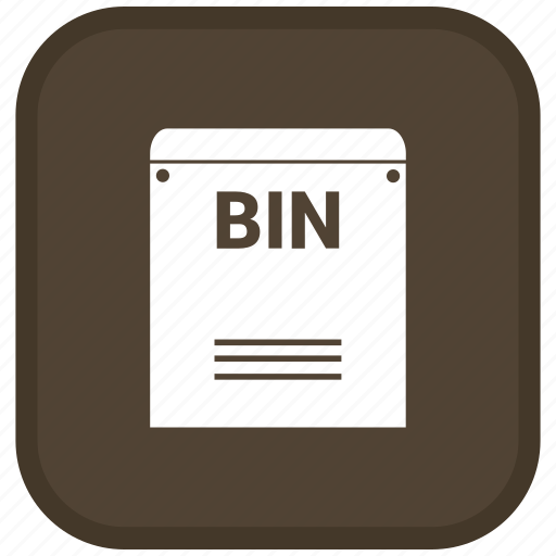 Bin, extension, file, format icon - Download on Iconfinder