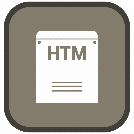 Htm, extension, file, format icon