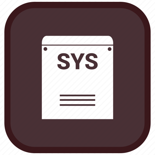Extension, file, format, sys icon - Download on Iconfinder