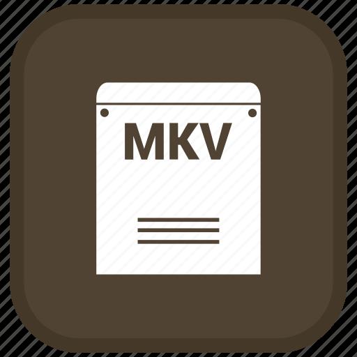 Extension, file, format, mkv icon - Download on Iconfinder