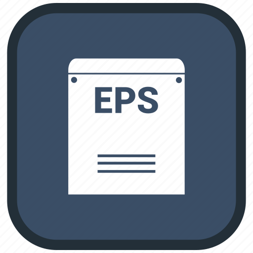 eps, extension, file, format icon