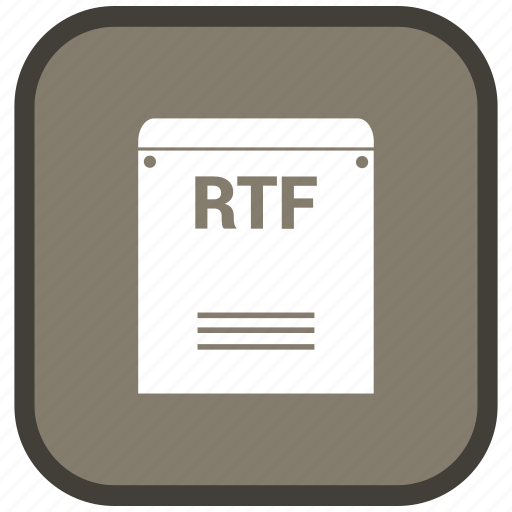 Rtf, extension, file, format icon