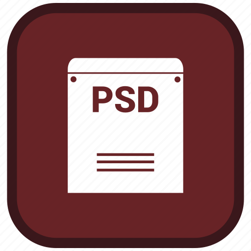 Extension, file, psd, format icon