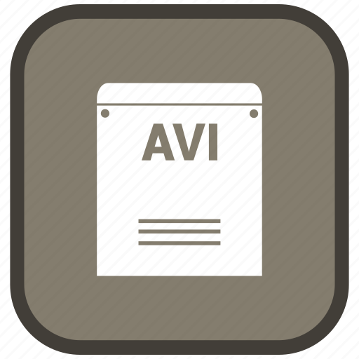 Extension, avi, file, format icon