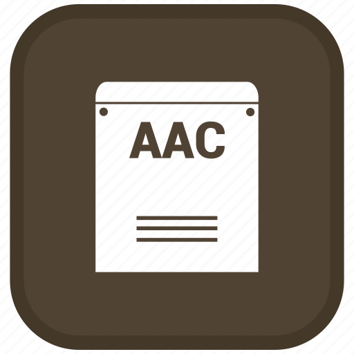 aac, extension, file, format icon