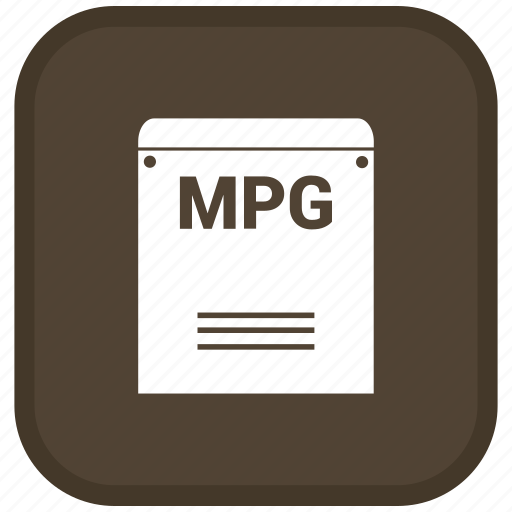 Mpg, extension, file, format icon