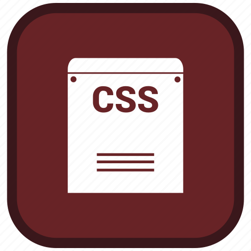 css, extension, file, format icon