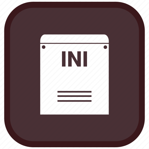 extension, file, format, ini icon